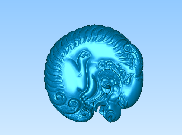 3DDW427-STL格式动物三维立体圆雕图动物3D打印模型动物3D雕刻图案动物立体精雕图下载
