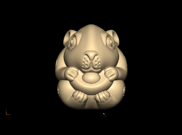 3DDW454-STL格式元宝鼠三维立体圆雕图元宝鼠3D打印模型元宝鼠3D雕刻图案元宝鼠立体精雕图下载