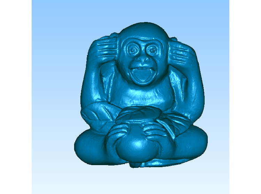 3DDW470-STL格式猴子三维立体圆雕图猴子3D打印模型猴3D雕刻图案猴立体精雕图下载