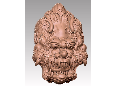 3DDW567-STL格式玉雕兽面三维立体圆雕图玉雕兽面3D打印模型玉雕兽面3D雕刻图案玉雕兽面立体精雕图下载