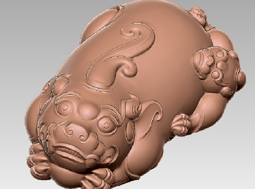 3DDW570-STL格式直头母子兽三维立体圆雕图直头母子兽3D打印模型直头母子兽3D雕刻图案直头母子兽立体精雕图下载