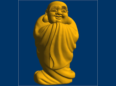 3DFO366-STL格式笑佛三维立体圆雕图弥勒佛3D打印模型弥勒菩萨3D雕刻图案笑佛立体精雕图下载
