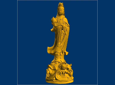 3DFO385-STL格式采莲花观音三维立体圆雕图采莲花观音3D打印模型采莲花观音3D雕刻图案采莲花观音立体精雕图下载