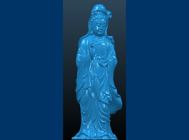 3DFO395-STL格式观音8三维立体圆雕图观音83D打印模型观音83D雕刻图案观音8立体精雕图下载