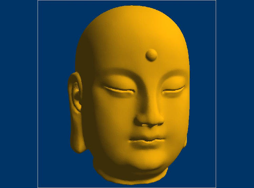 3DFO456-STL格式光佛头三维立体圆雕图光佛头3D打印模型光佛头3D雕刻图案光佛头立体精雕图下载