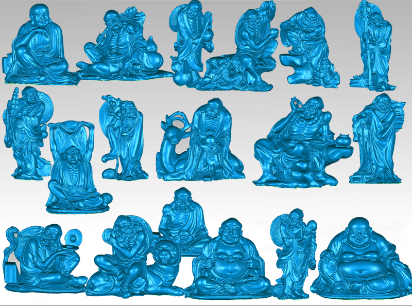 3DFO459-STL格式十八罗汉全身三维立体圆雕图十八罗汉全身3