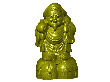 3DFO503-STL格式财神爷三维立体圆雕图财神爷3D打印模型财神爷3D雕刻图案财神爷立体精雕图下载